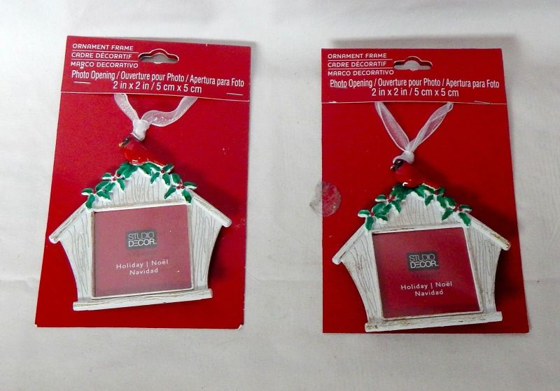 Christmas Studio Decor Ornament Frames 2 X Metal By Michaels 4 X3 2ea 30e