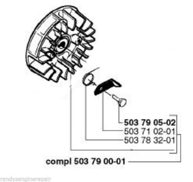 part 503790001 flywheel HUSQVARNA 51 55 & 55 RANCHER
