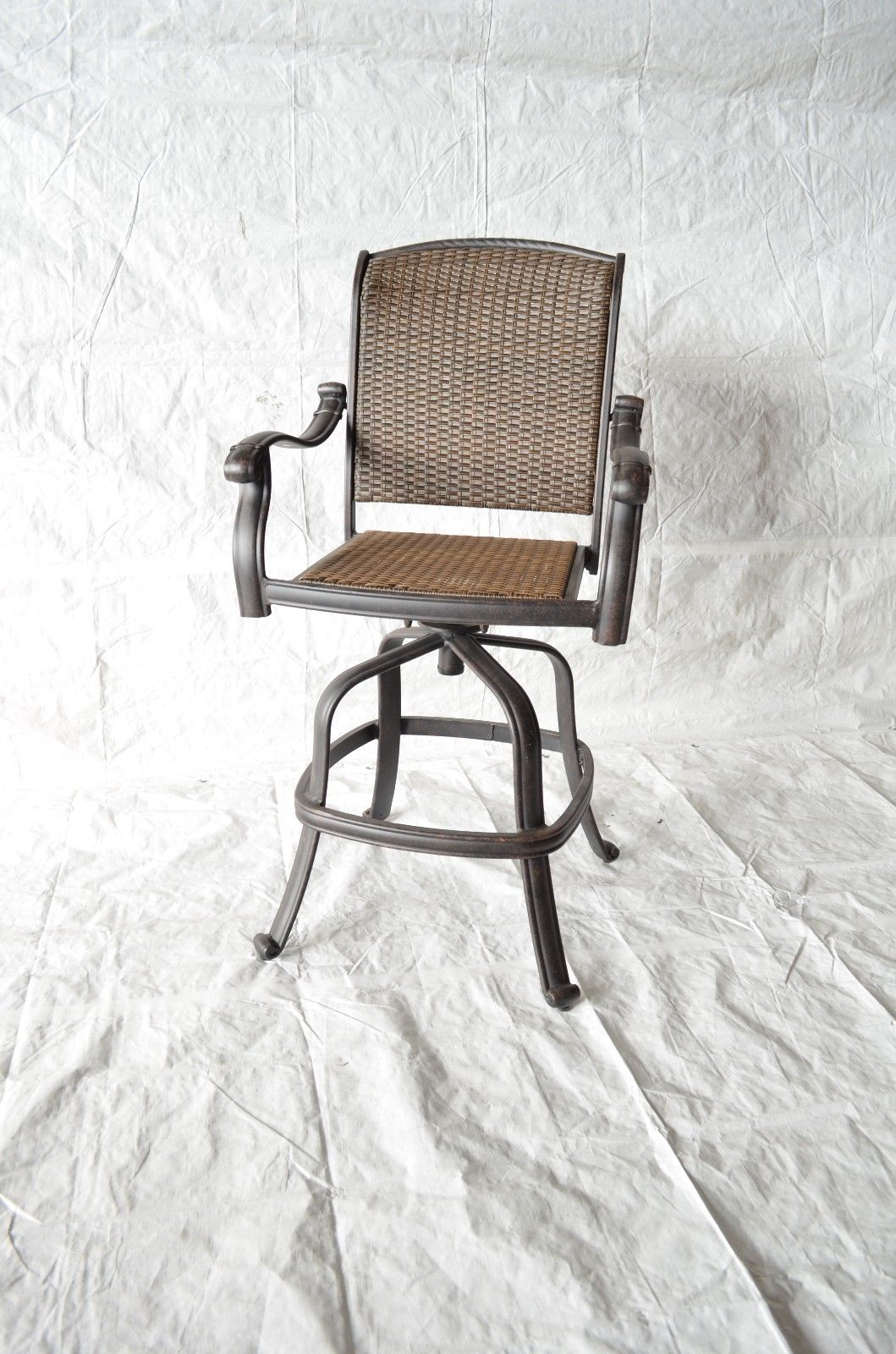 outdoor bar chairs chair to bed santa clara patio swivel stools cast aluminum