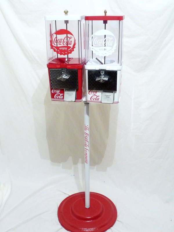 Vintage Gumball Machine Candy Stand Coca Cola Coin Op Coke