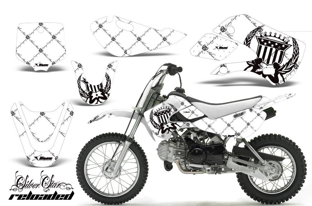 Decal Graphic Kit Wrap For Kawasaki KLX 110 2002-2009 KX