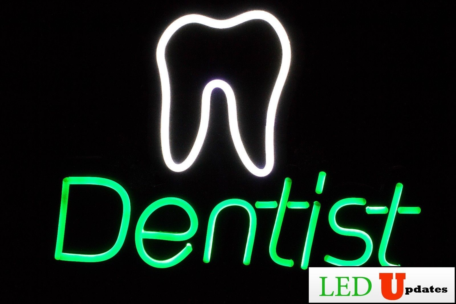 Ledupdates Dentist Led Sign With On Off Switch Ul Power