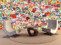 Wall Art Ready To Hang Colorful Letters Collage Wall art ...