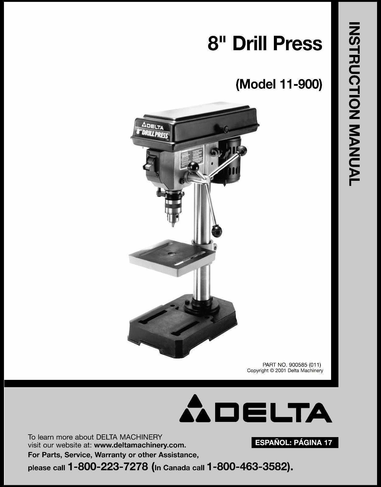 Delta Machinery Parts Canada