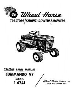 Wheel Horse Commando V7 parts manual Model 1-4741