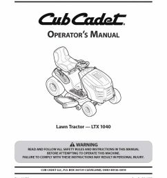 cub cadet lawn tractor operator s manual and 50 similar items 57 [ 1236 x 1600 Pixel ]