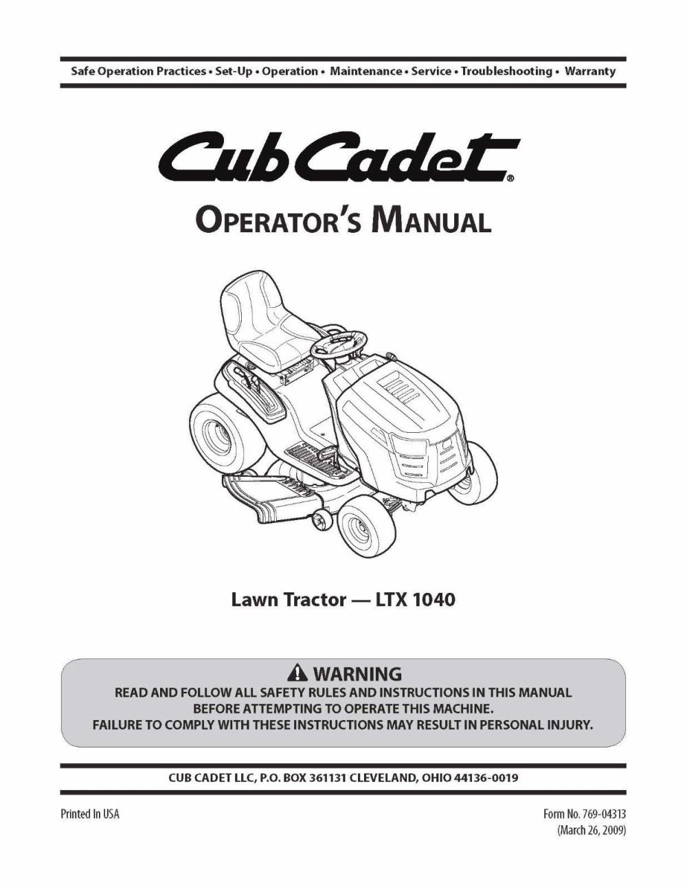 medium resolution of cub cadet lawn tractor operator s manual and 50 similar items 57