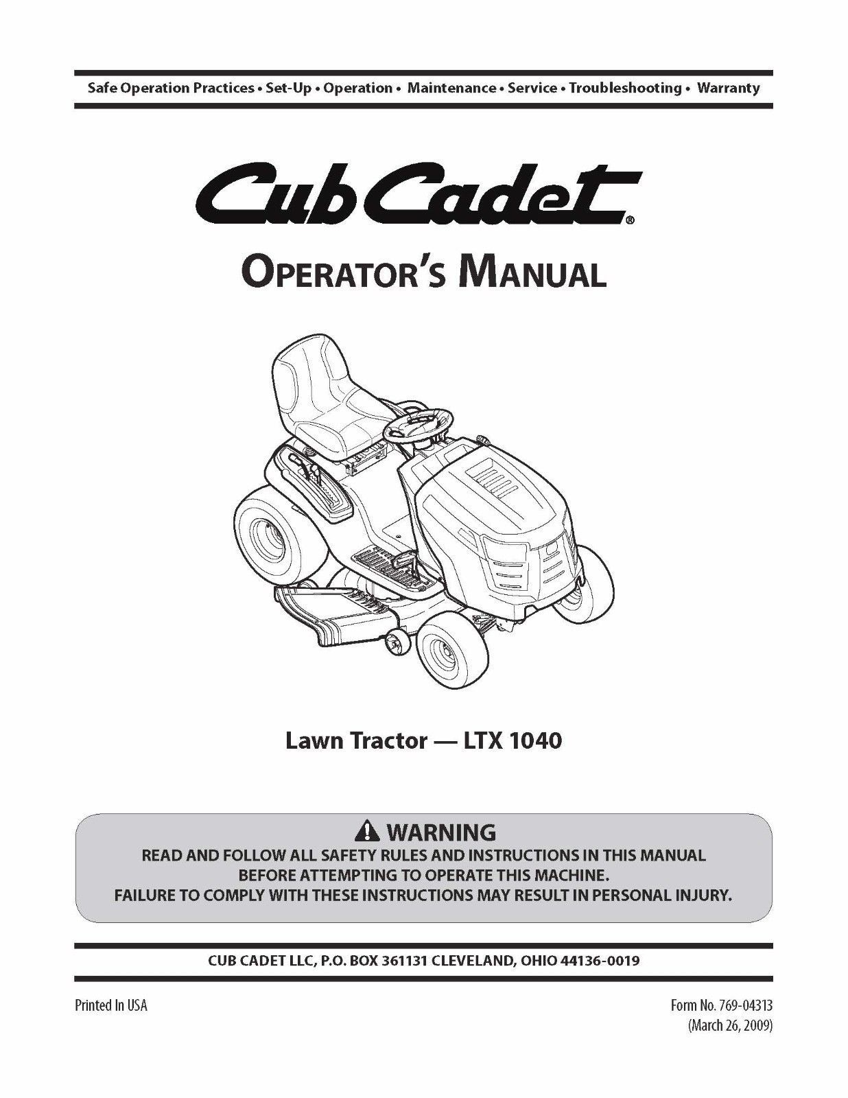 hight resolution of cub cadet lawn tractor operator s manual and 50 similar items 57