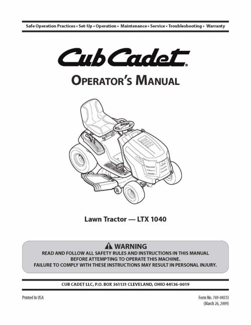 small resolution of cub cadet lawn tractor operator s manual and 50 similar items 57