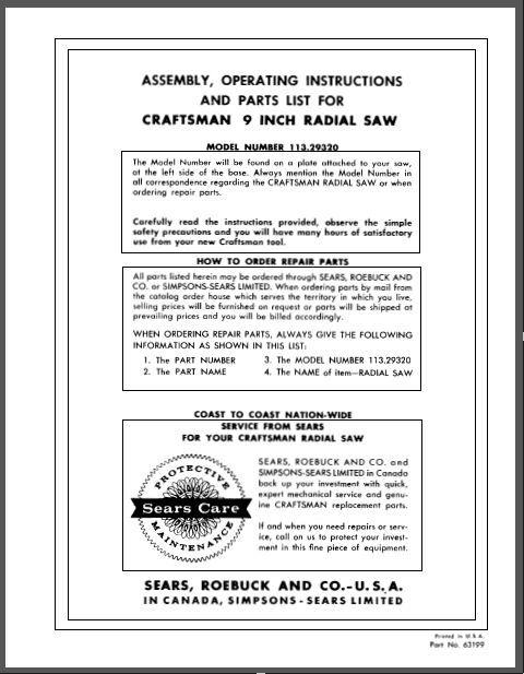 Craftsman Tool Catalog Request