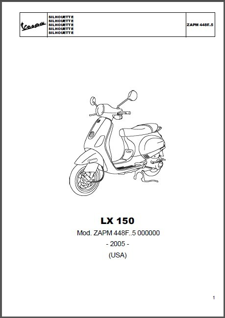 Vespa LX 150 4T USA Scooter Service Repair Workshop