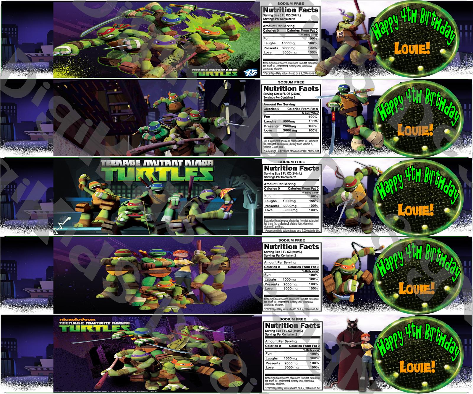 Teenage Mutant Ninja Turtles Custom Birthday And 23