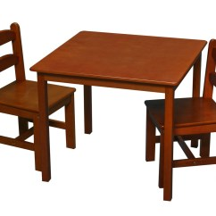 Solid Wood Childrens Table And Chairs Chair Unfolds Into Bed Gift Mark Children 39s 2 Sets