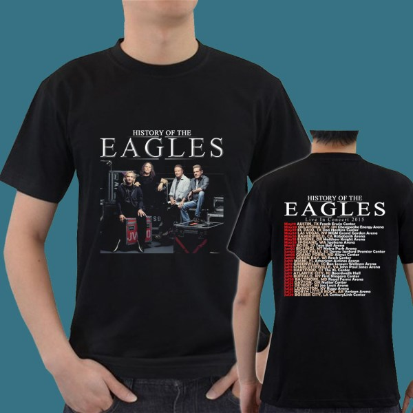 History Of Eagles Band Tour Date 2015 Gn09 Mens Tee T