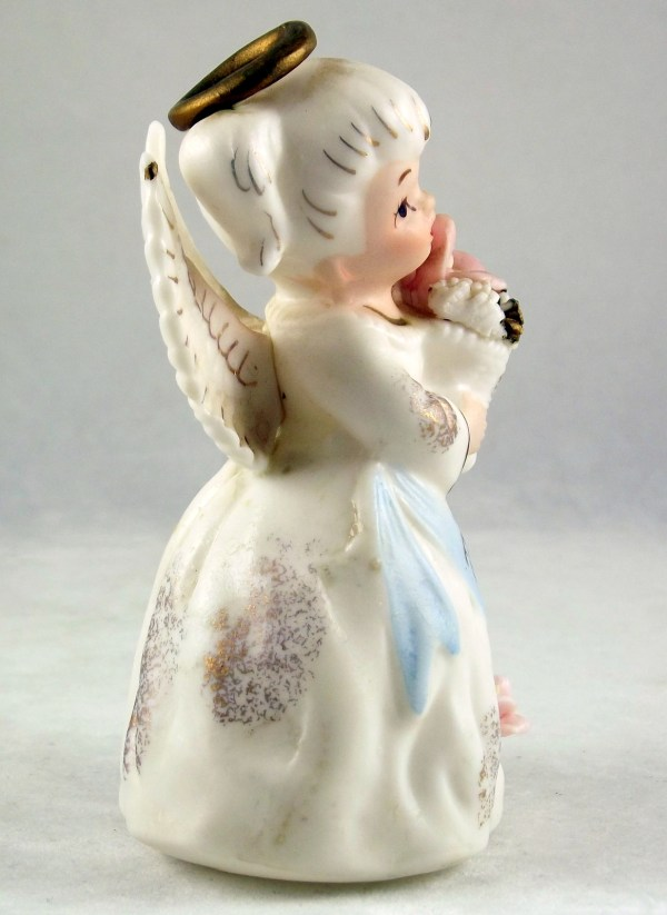 Vintage Lefton February Angel Of Month Porcelain