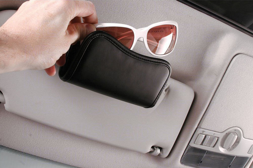 Car Visor Sunglass And Eyeglass Holder Caddy Eyeglass Cases