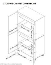Storage Six 6 Shelves Cupboard Cabinet Workspace System