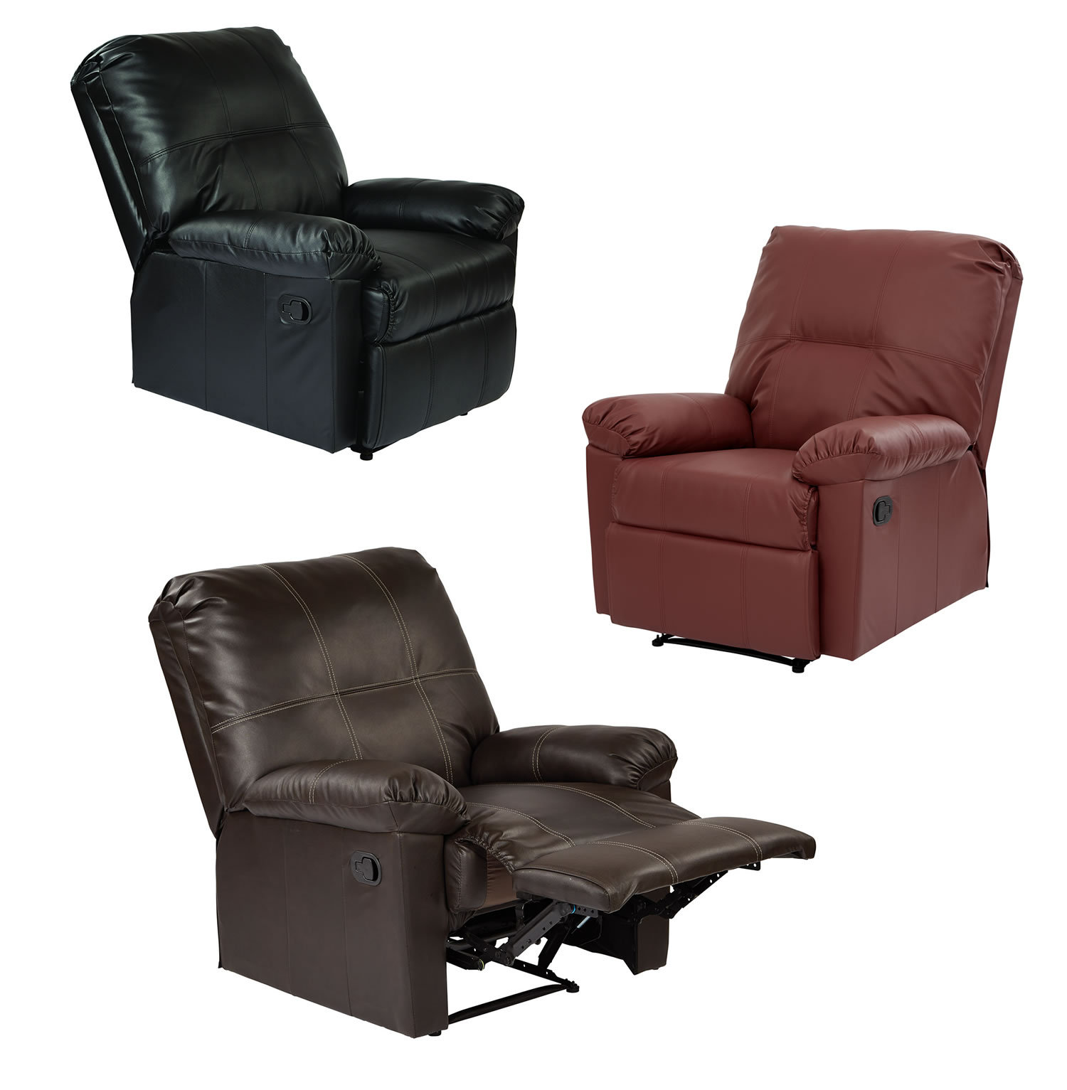 kensington leather chair rubber feet for metal legs eco recliner living room lounge club