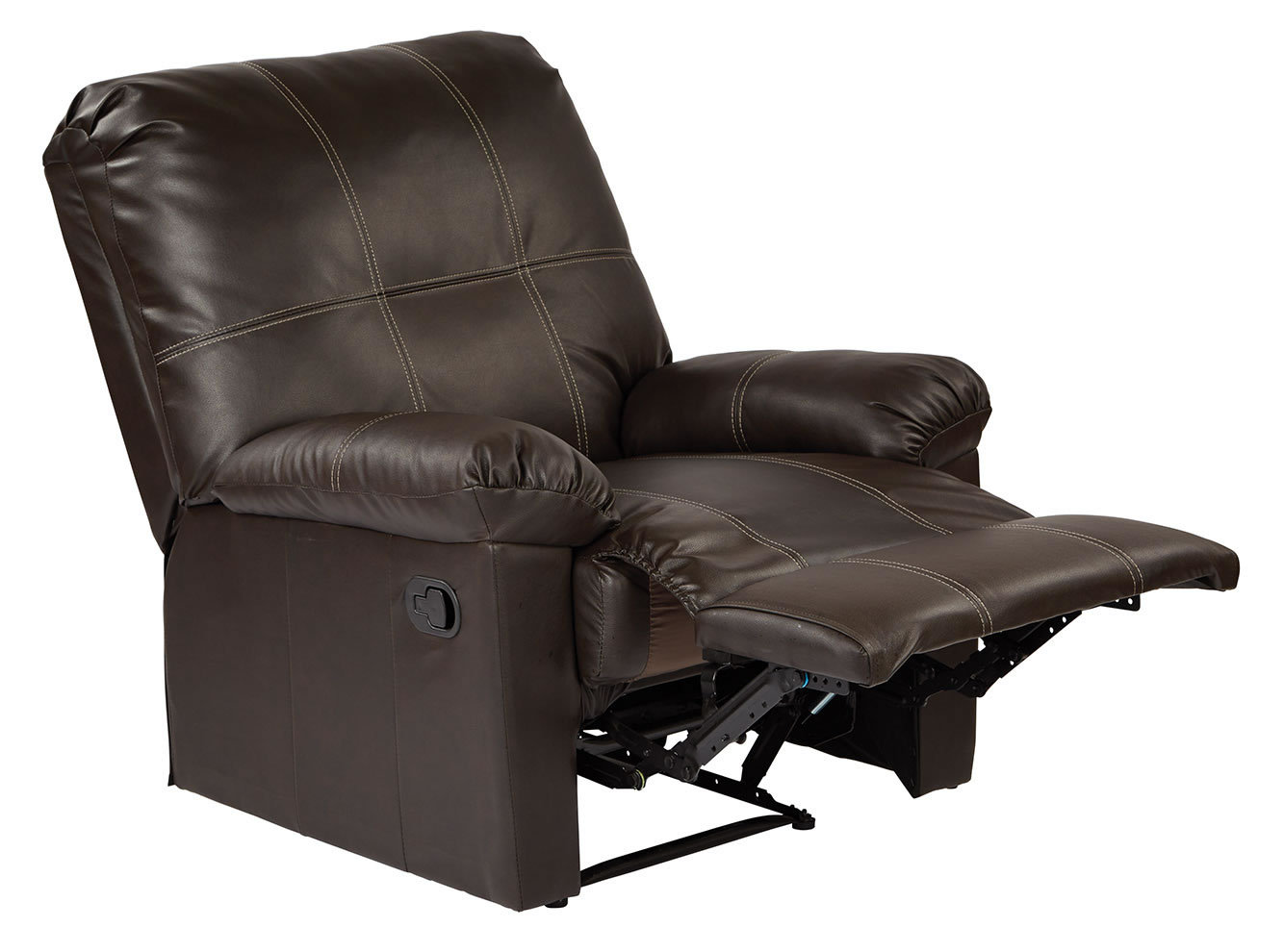 kensington leather chair armless office chairs eco recliner living room lounge club