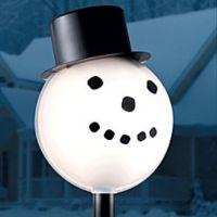 Snowman Head Christmas Outdoor Light lightpost / Lamppost ...