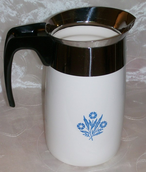 Vintage Corning Ware Blue Cornflower Coffee Pot