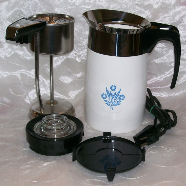 Vintage Corning Ware Blue Cornflower Electric Coffee Pot