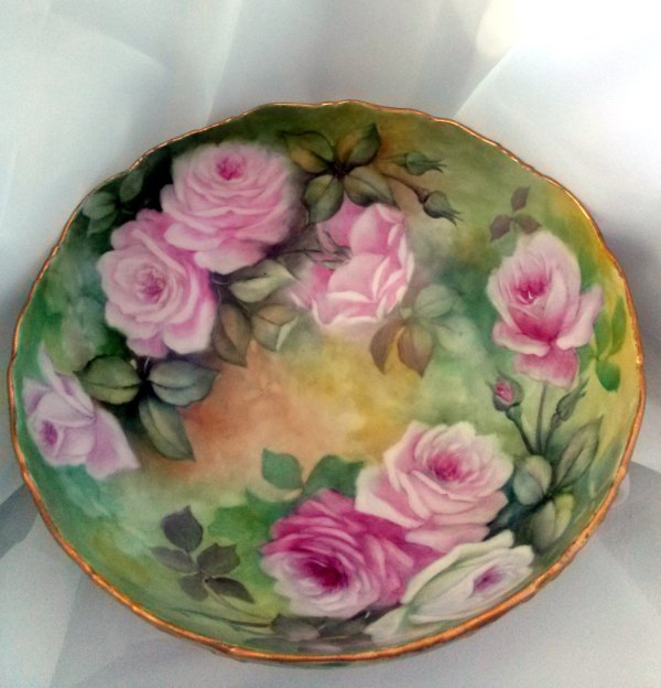 Porcelain T& Limoges Punch Bowl Gorgeous And 50 Similar Items