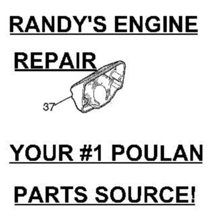 Poulan Craftsman Air Filter w/ screws Chainsaw 545057701