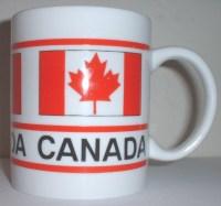 ceramic coffee mug: Canadian flag motif - Mugs, Cups
