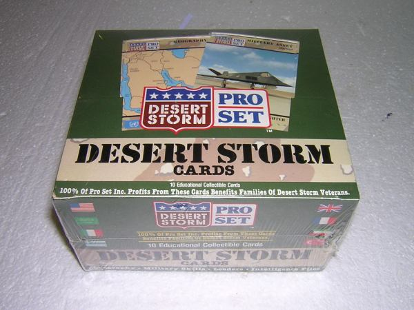 Sealed Box Of Desert Storm Pro Set Trading Cards