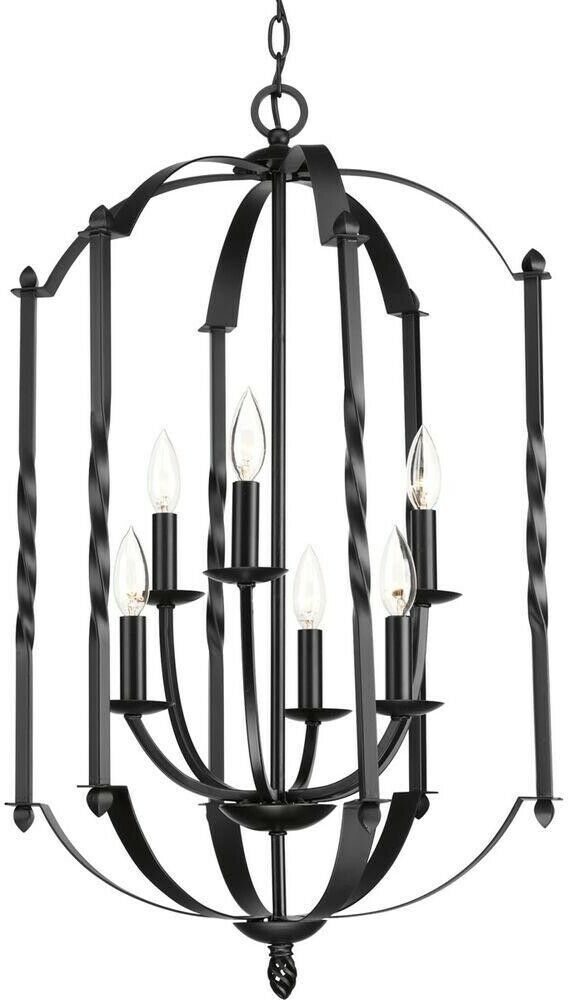 Chandelier 18-1/4 in. x 31-1/4 in. 6-Light 2-Tier Candle