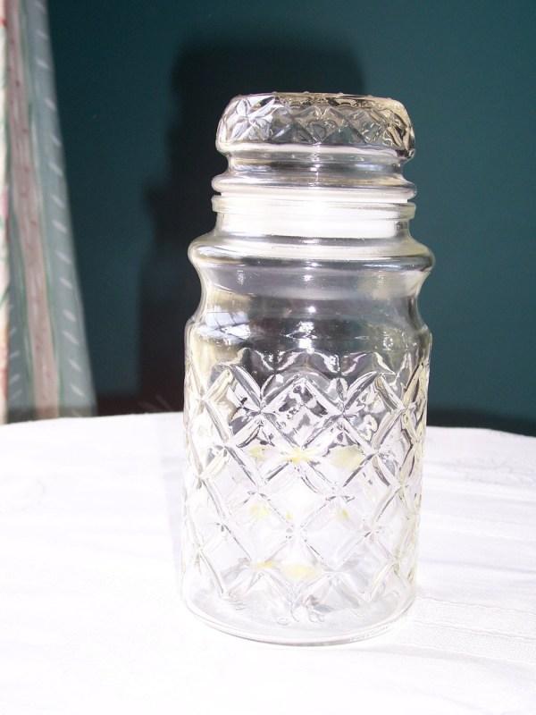 Peanut Glass Jar Vintage 1970'
