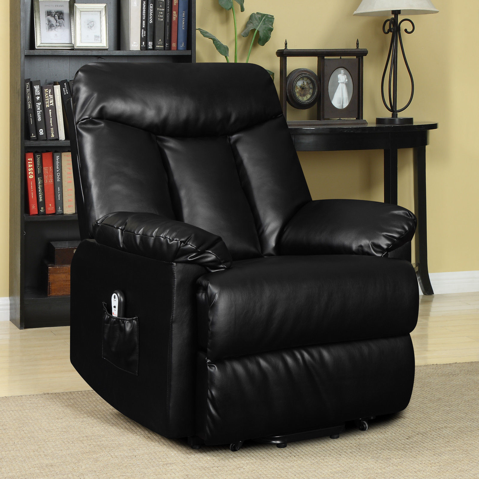seat lift chair infant vibrating electric recliner black leather power motion