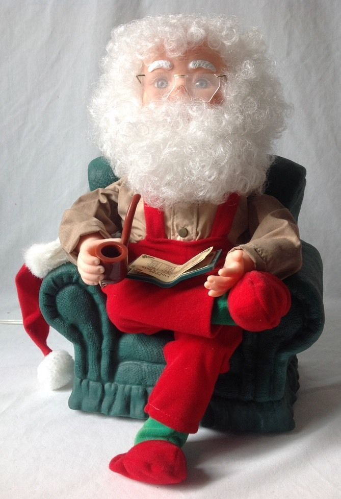 santa claus chair lightweight folding chairs hiking santas best animated in arm w pipe and list -