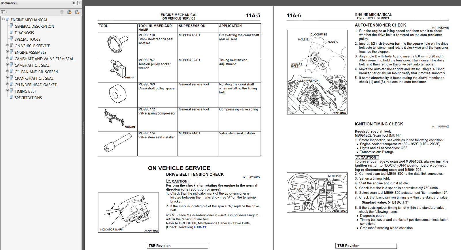 2003 Mitsubishi Montero Factory Repair Service Manual MSSP