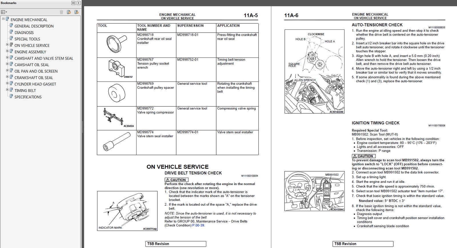 2003 Mitsubishi Montero Factory Repair Service Manual MSSP