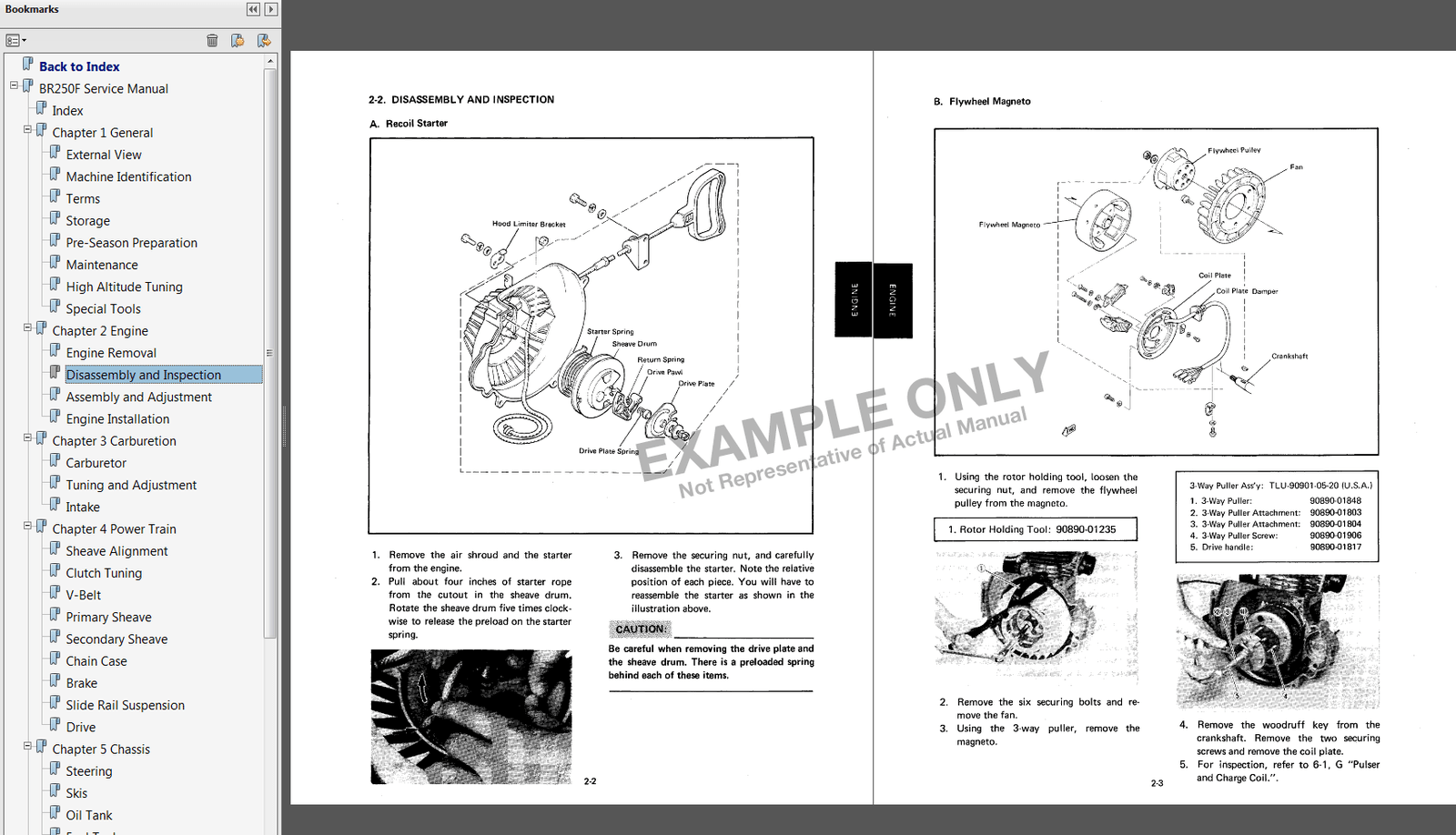 1986-1990 Yamaha Inviter CF 300 Snowmobile Service Manual