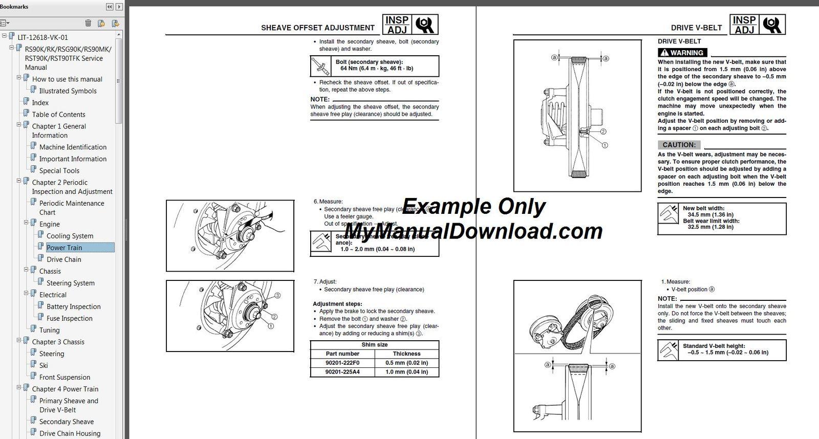 2007-2010 Yamaha Phazer GT/MTX/RTX Snowmobile Service