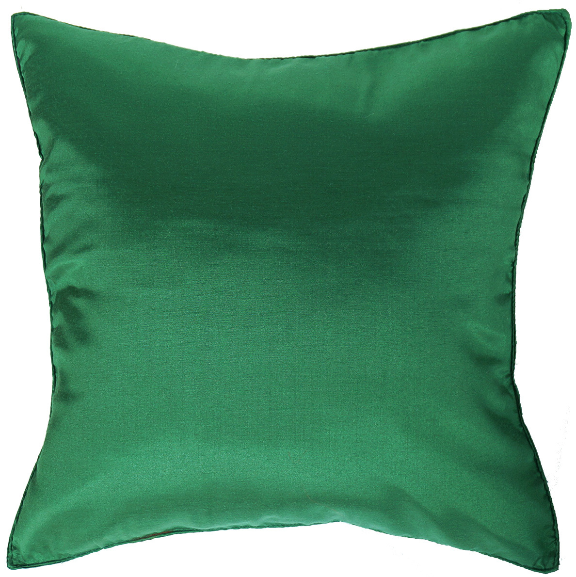 2 CHRISTMAS GREEN Silk THROW Decorative PILLOW COVERS for