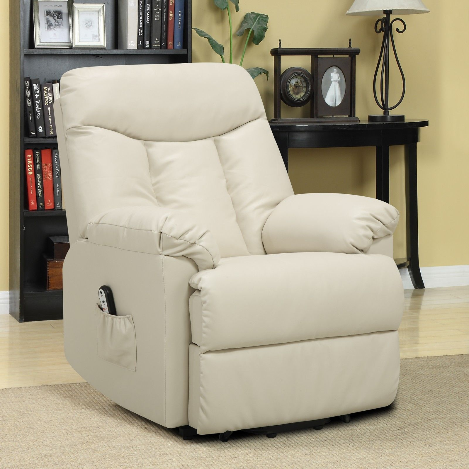 seat lift chair behind the app electric recliner cream leather power motion