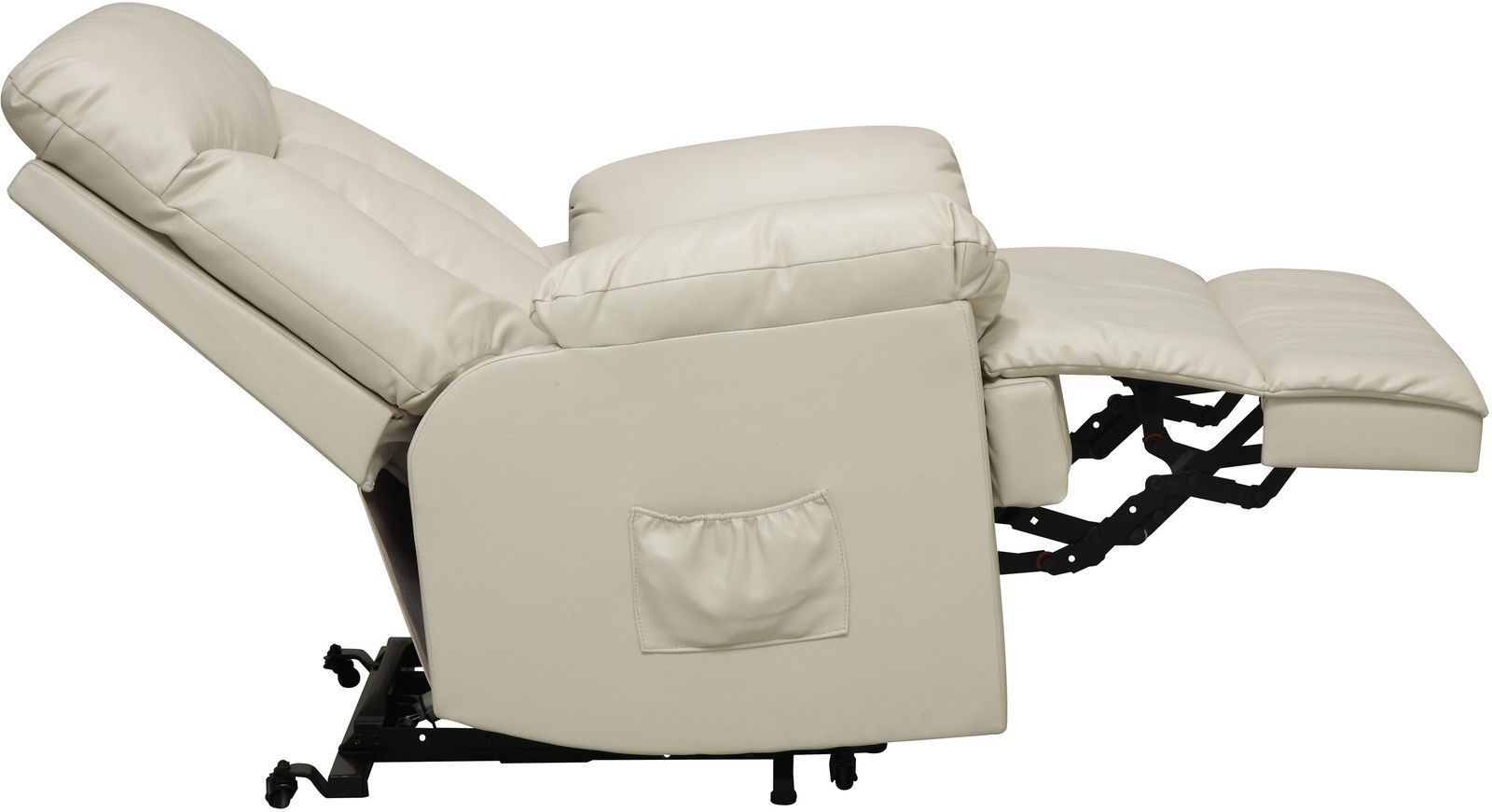 seat lift chair black leather office high back electric recliner cream power motion