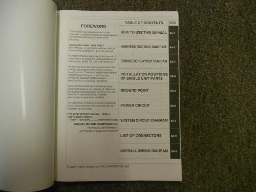 small resolution of 1993 suzuki swift electrical wiring diagram shop manual factory oem book 93