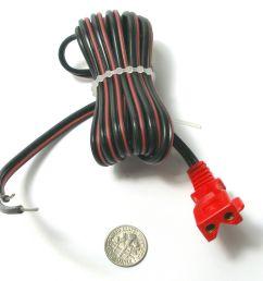 6 vintage tyco ho slot car track transformer heavyduty power pig tail plug lead 6 92 [ 1600 x 1546 Pixel ]