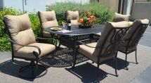 Patio 7 Piece Dining Set Oudoor Cast Aluminum Furniture