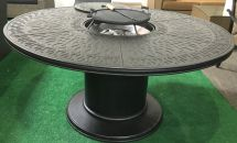 Propane Fire Pit Table 7 Pc Nassau Patio Dining Set