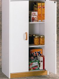 Food Pantry Cabinet with Doors Oak Tall Storage Kitchen ...