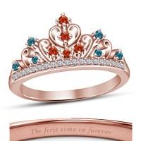 Sterling Silver 14k Rose Gold Finish Wedding Disney ...