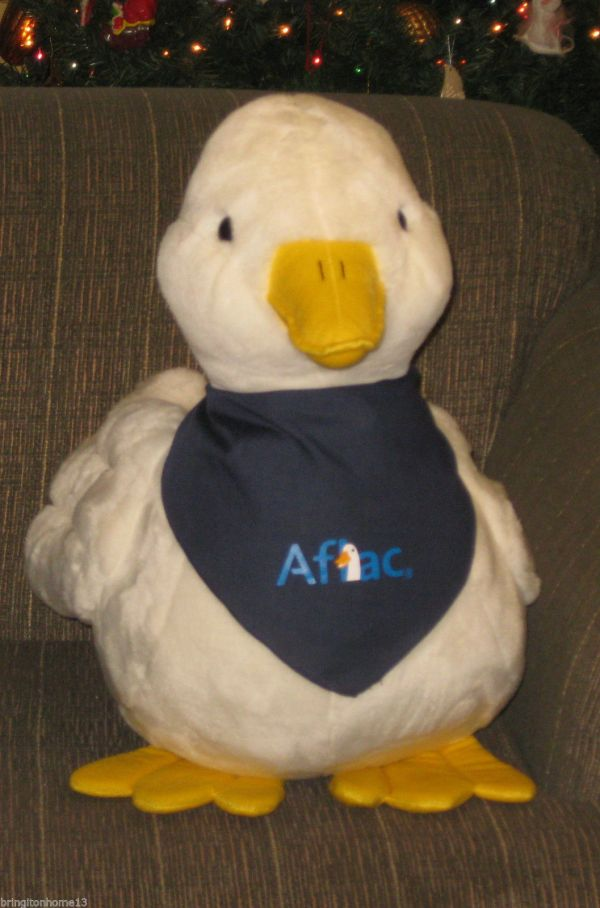 "Aflac Duck Talking Huge Large 25"" Rare Plush Insurance"