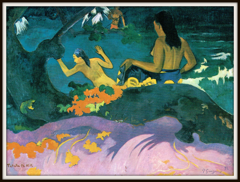 Paul Gauguin. Fatata te Miti. By The Sea. Gauguin Print. Tahitian Art. Tahiti - Posters & Prints