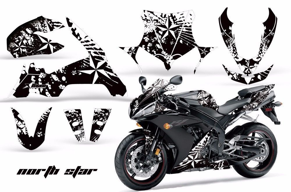 Street Bike Graphics Kit Decal Sticker Wrap For Yamaha YZF
